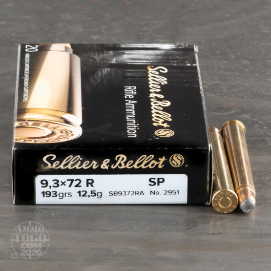 20rds - 9.3x72 Rimmed Sellier and Bellot 193gr. SP Ammo