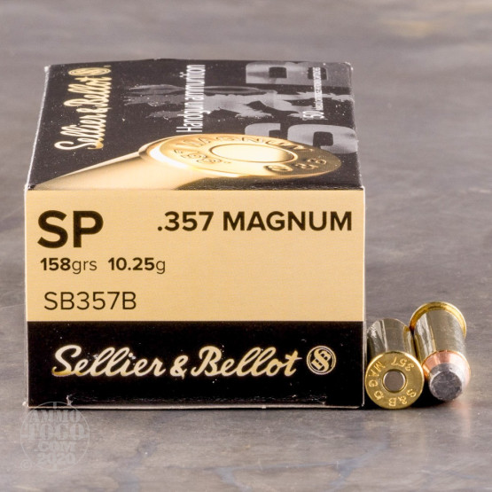 1000rds – 357 Magnum Sellier & Bellot 158gr. SP Ammo