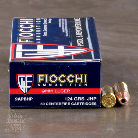 1000rds - 9mm Fiocchi 124gr. JHP Ammo