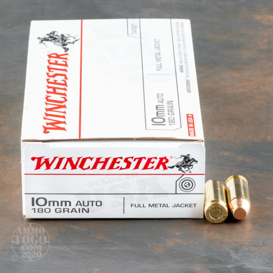 50rds – 10mm Winchester USA 180gr. FMJ Ammo