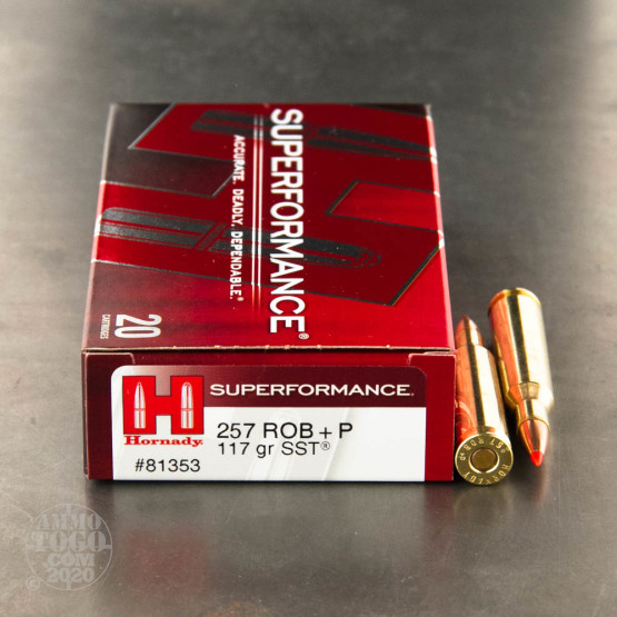 20rds - 257 Roberts Hornady 117gr +P SST Superformance Ammo