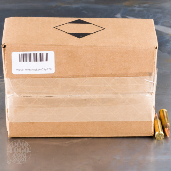 200rds - 7.62x51mm Lake City 148 FMJ (M80) and 175 OTM (M118) Mixed Ammo