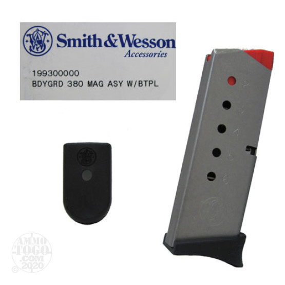 1 - Factory New Smith & Wesson Bodyguard 380 ACP 6rd. Mag w/ Baseplate