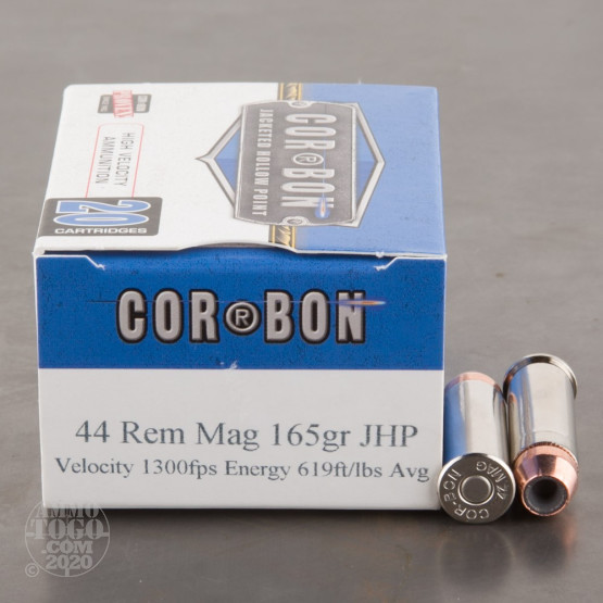 20rds - 44 Mag Corbon 165gr. HP Ammo