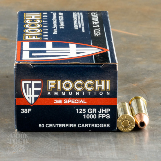 50rds - 38 Special Fiocchi 125gr Semi-Jacketed Hollow Point