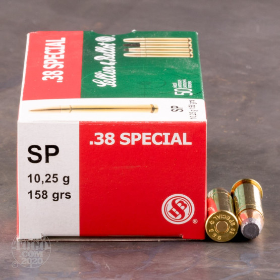 50rds - 38 Special Sellier & Bellot 158gr. Soft Point Ammo