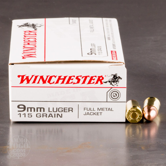 500rds - 9mm Winchester USA 115gr. FMJ Ammo