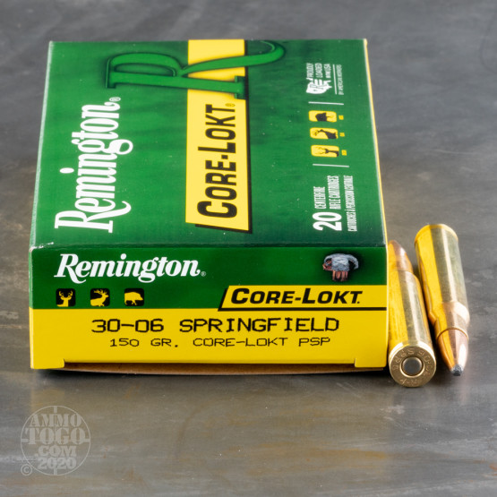 20rds – 30-06 Remington Core-Lokt 150gr. PSP Ammo