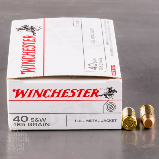 500rds - 40 S&W Winchester USA 165gr. FMJ Ammo