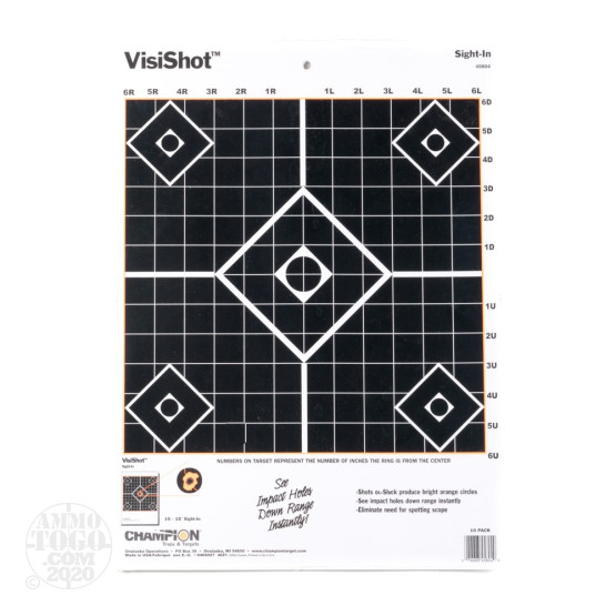 1 - Champion VisiShot Sight-in Target 10 Pack