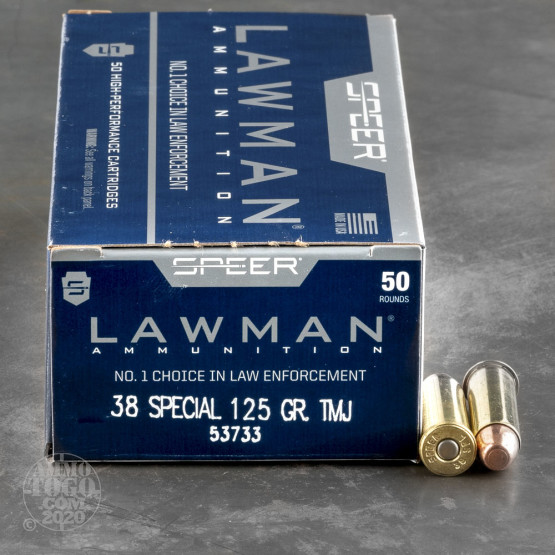 1000rds – 38 Special Speer Lawman 125gr. TMJ Ammo