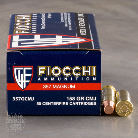 50rds – 357 Magnum Fiocchi Pistol Shooting Dynamics 158gr. CMJ-FP Ammo