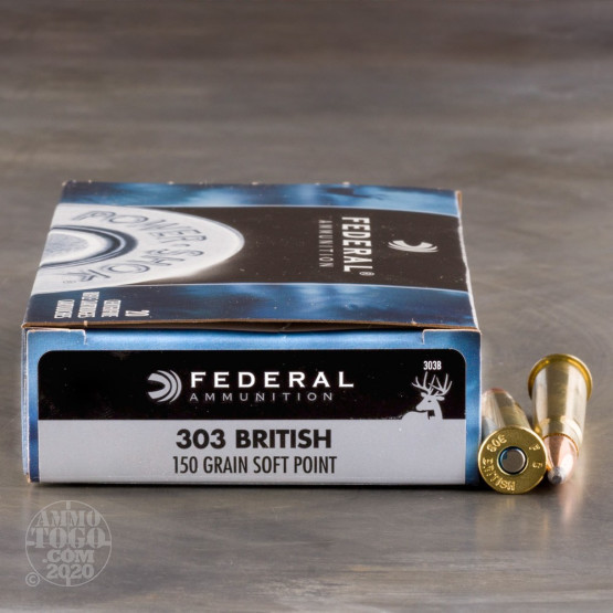 20rds – 303 British Federal Power-Shok 150gr. JSP Ammo