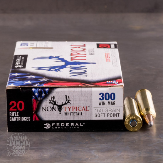 20rds - 300 Win. Mag Federal Non-Typical Whitetail 150gr. Non-Typical SP Ammo