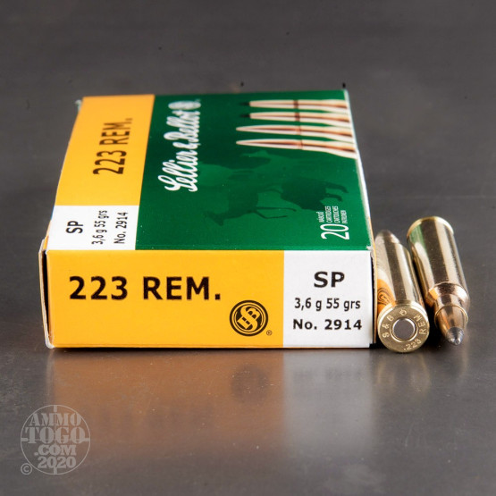20rds – 223 Rem Sellier & Bellot 55gr. SP Ammo