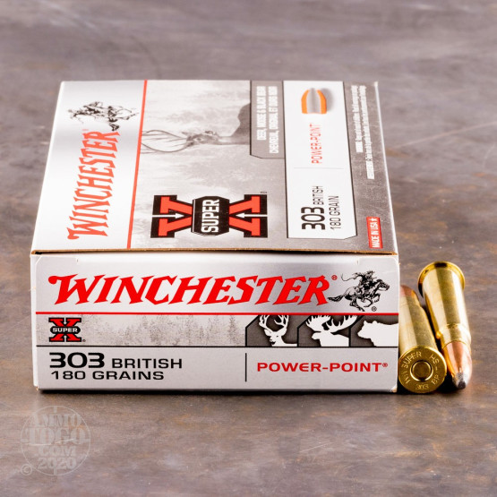 20rds - 303 British Winchester 180gr Super-X Power Point Ammo