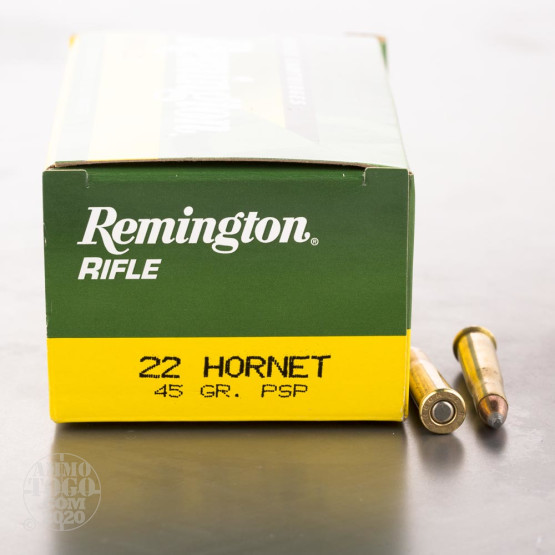 50rds - 22 Hornet Remington Rifle Express 45gr. Pointed Soft Point Ammo