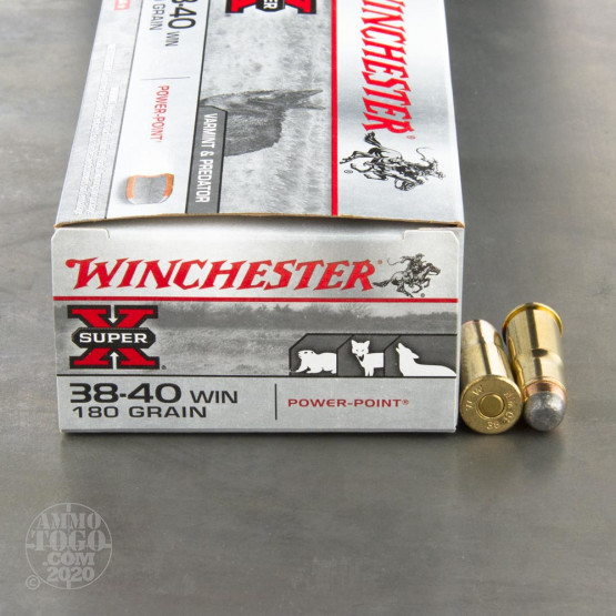 50rds - 38-40 Winchester Super-X 180gr. Power Point SP Ammo