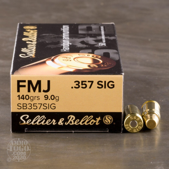 50rds - .357 Sig Sellier & Bellot 140gr. FMJ Ammo