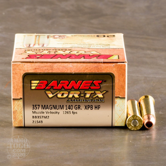 20rds - 357 Mag Barnes 140gr. XPB Hollow Point Ammo