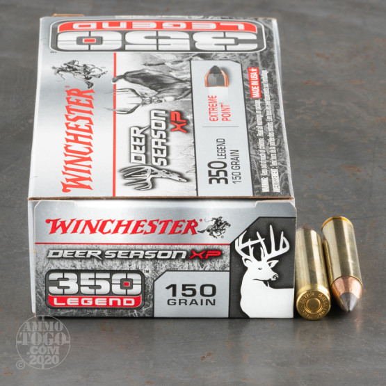 20rds – 350 Legend Winchester Deer Season XP 150gr. XP Ammo