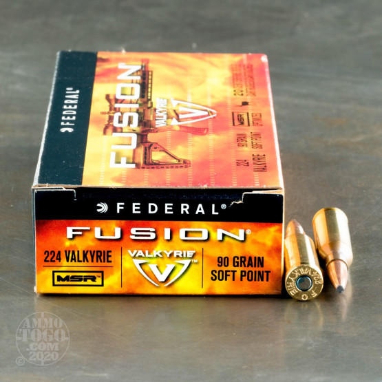 200rds - 224 Valkyrie Federal Fusion 90gr. SP Ammo