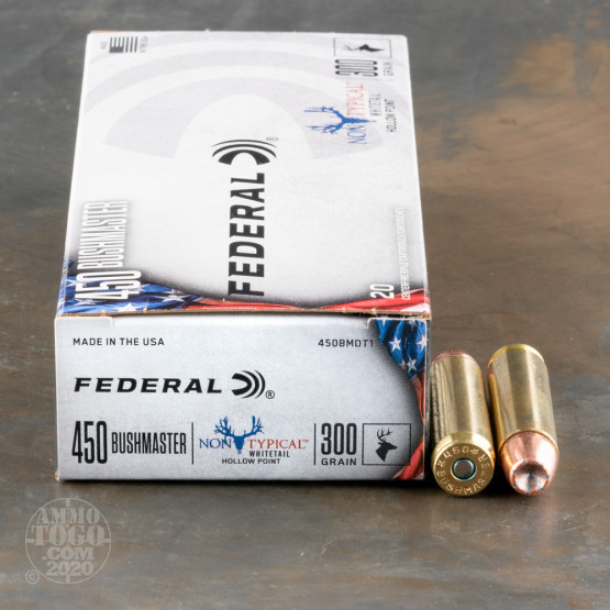 20rds – 450 Bushmaster Federal Non-Typical 300gr. JHP Ammo