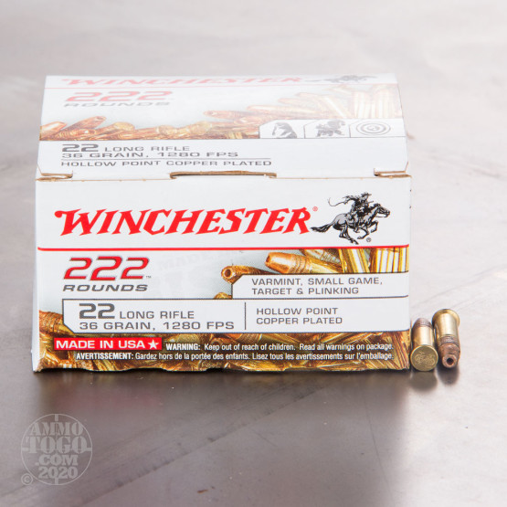 2220rds - 22 LR Winchester 36gr. CPHP Ammo