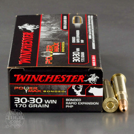 20rds - 30-30 Winchester Power Max Bonded 170gr. PHP Ammo