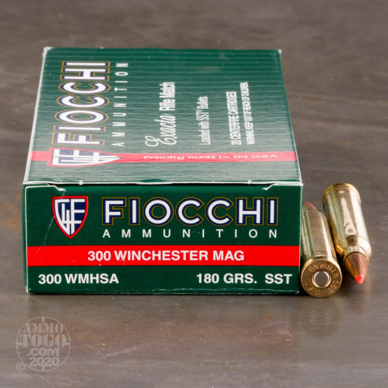 20rds – 300 Winchester Magnum Fiocchi 180gr. SST Ammo