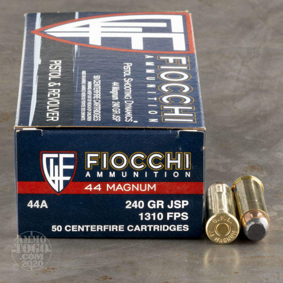 500rds - 44 Mag Fiocchi 240gr Jacketed Soft Point Ammo