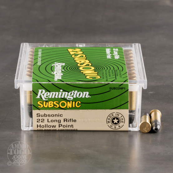 50rds – 22 LR Remington 22 Subsonic 38gr. HP Ammo
