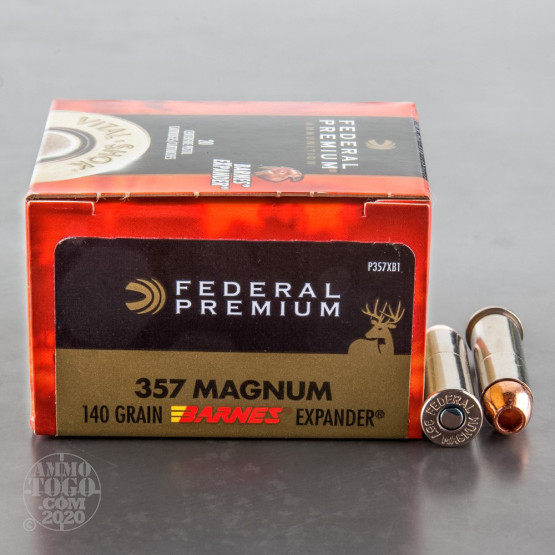 20rds - 357 Mag Federal 140gr. Barnes Expander Hollow Point Ammo