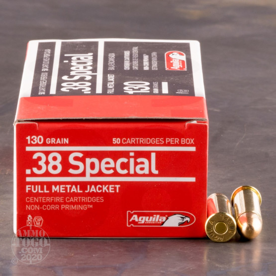 50rds - 38 Special Aguila 130gr. FMJ Ammo