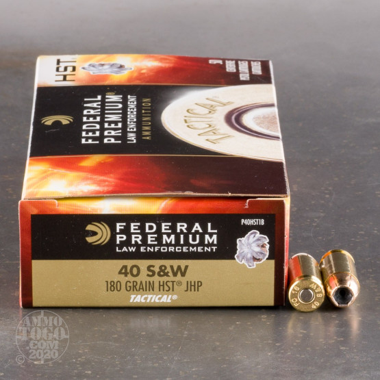 1000rds - 40 S&W Federal Premium Tactical 180gr. HST JHP Ammo