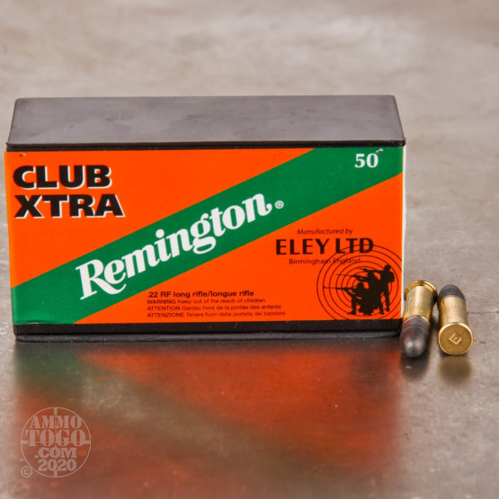 50rds - 22LR Remington Eley Club Xtra 40gr. Solid Point Ammo