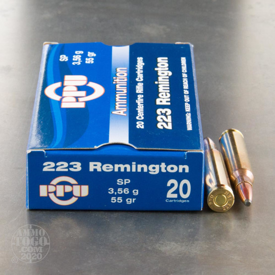 20rds - 223 Prvi Partizan 55gr. Soft Point Ammo