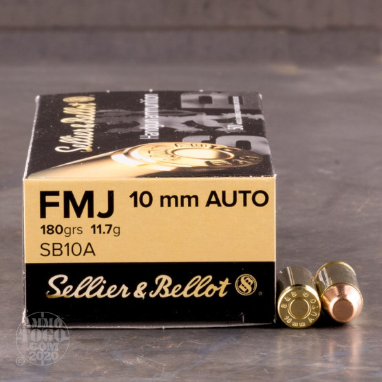 50rds - 10mm Auto Sellier & Bellot 180 Grain FMJ Ammo