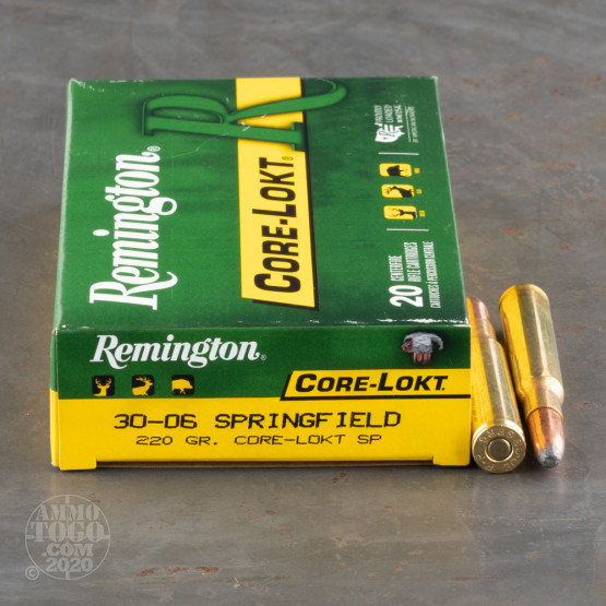 20rds - 30-06 Remington 220gr Core-Lokt Soft Point Ammo