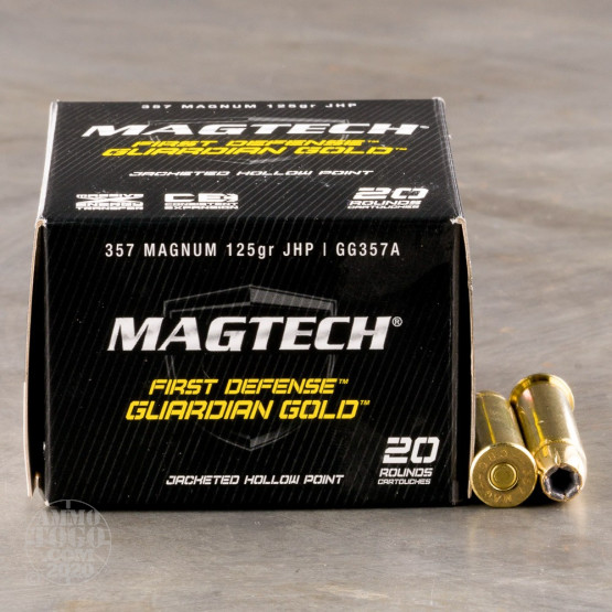 20rds - 357 Mag MAGTECH Guardian Gold 125gr. HP Ammo