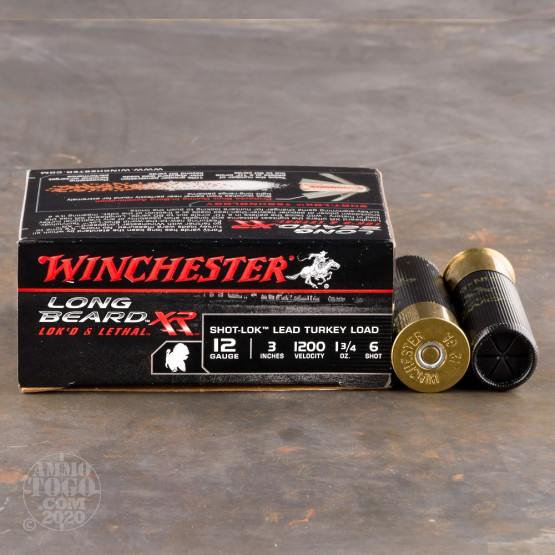 "10rds – 12 Gauge Winchester Long Beard XR 3"" 1-3/4oz. #6 Shot-Lok Lead Ammo"