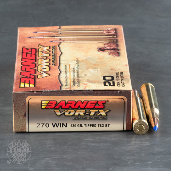 270 Winchester Ammo - 20 Rounds of 130 Grain TTSX by Barnes