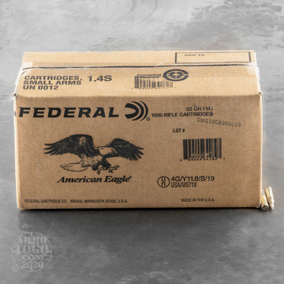 1000rds - 5.56 Federal Lake City M855 62gr Penetrator Ammo
