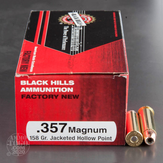 500rds - 357 Mag Black Hills 158gr. Jacketed Hollow Point Ammo