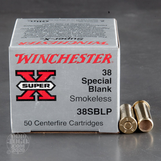 50rds - 38 Special Winchester Super-X Smokeless Blanks