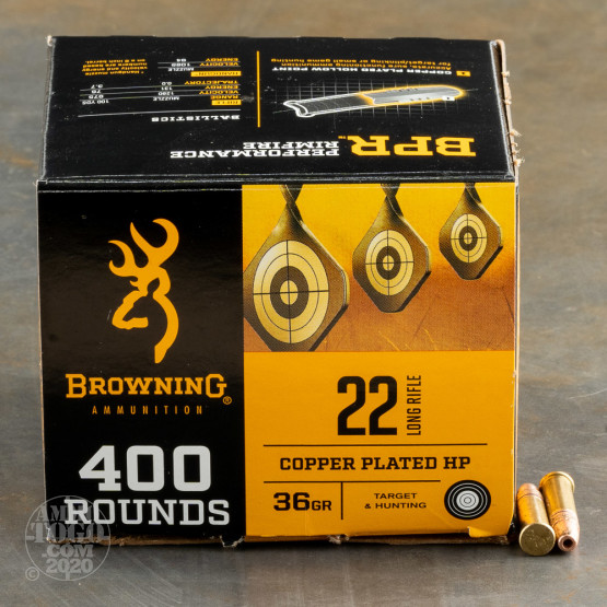 800rds – 22 LR Browning 36gr. CPHP Ammo