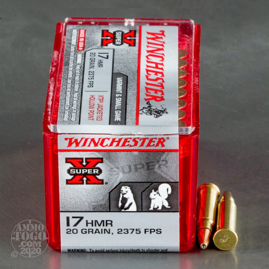 50rds - 17 HMR Winchester Super-X 20gr. XTP Hollow Point Ammo