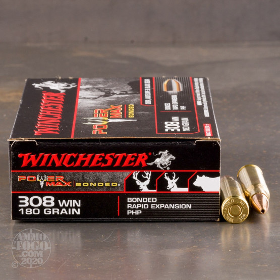 20rds - 308 Winchester 180gr. Power Max Bonded PHP Ammo
