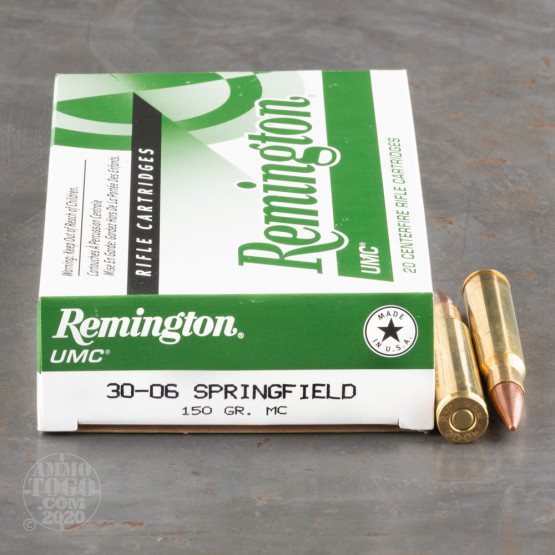 20rds – 30-06 Remington UMC 150gr. MC FMJ Ammo