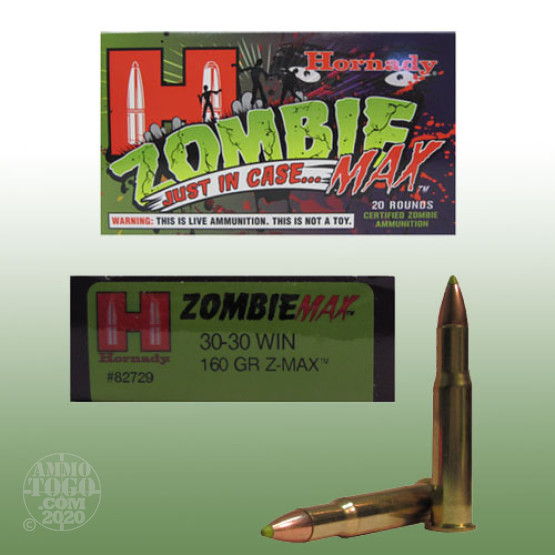20rds - 30-30 Win. Hornady Zombie Max 160gr. Z-MAX Ammo